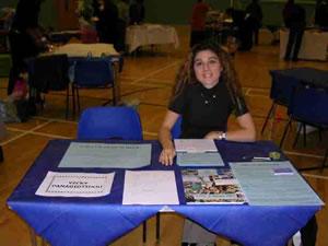 Vicky at a Trade Fair