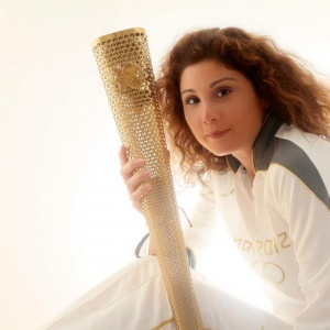 2012 Vicky with Olympic Torch